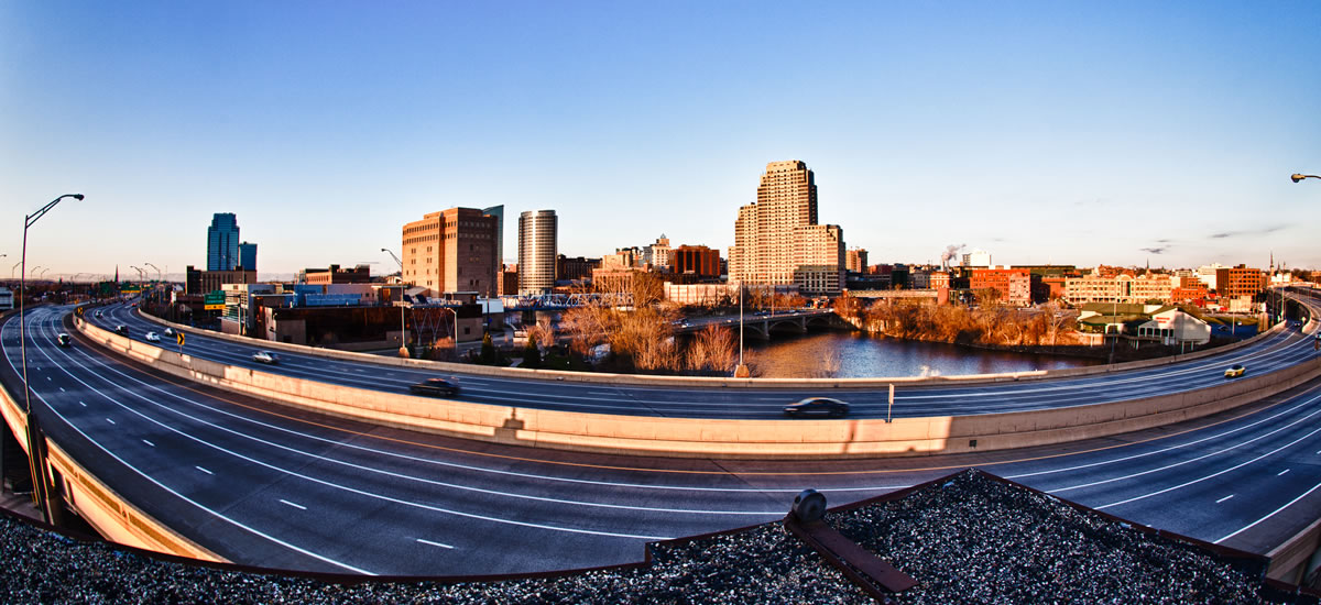 view of grand rapids city